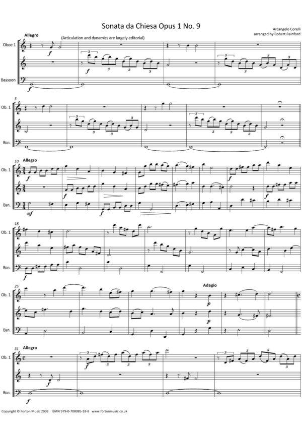 Sonata da Chiesa Op 1 nos 9-12