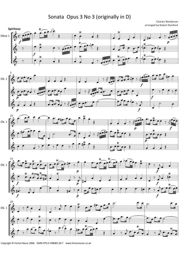Sonata Opus 3 no 3