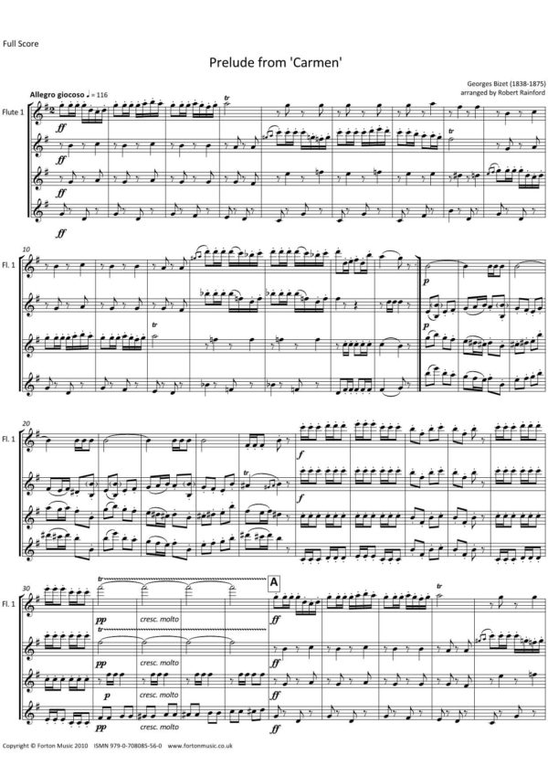 Prelude from 'Carmen'