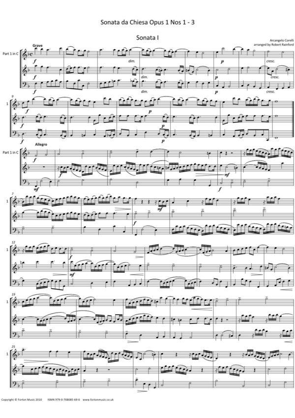 Sonata da Chiesa opus 1 nos. 1-3