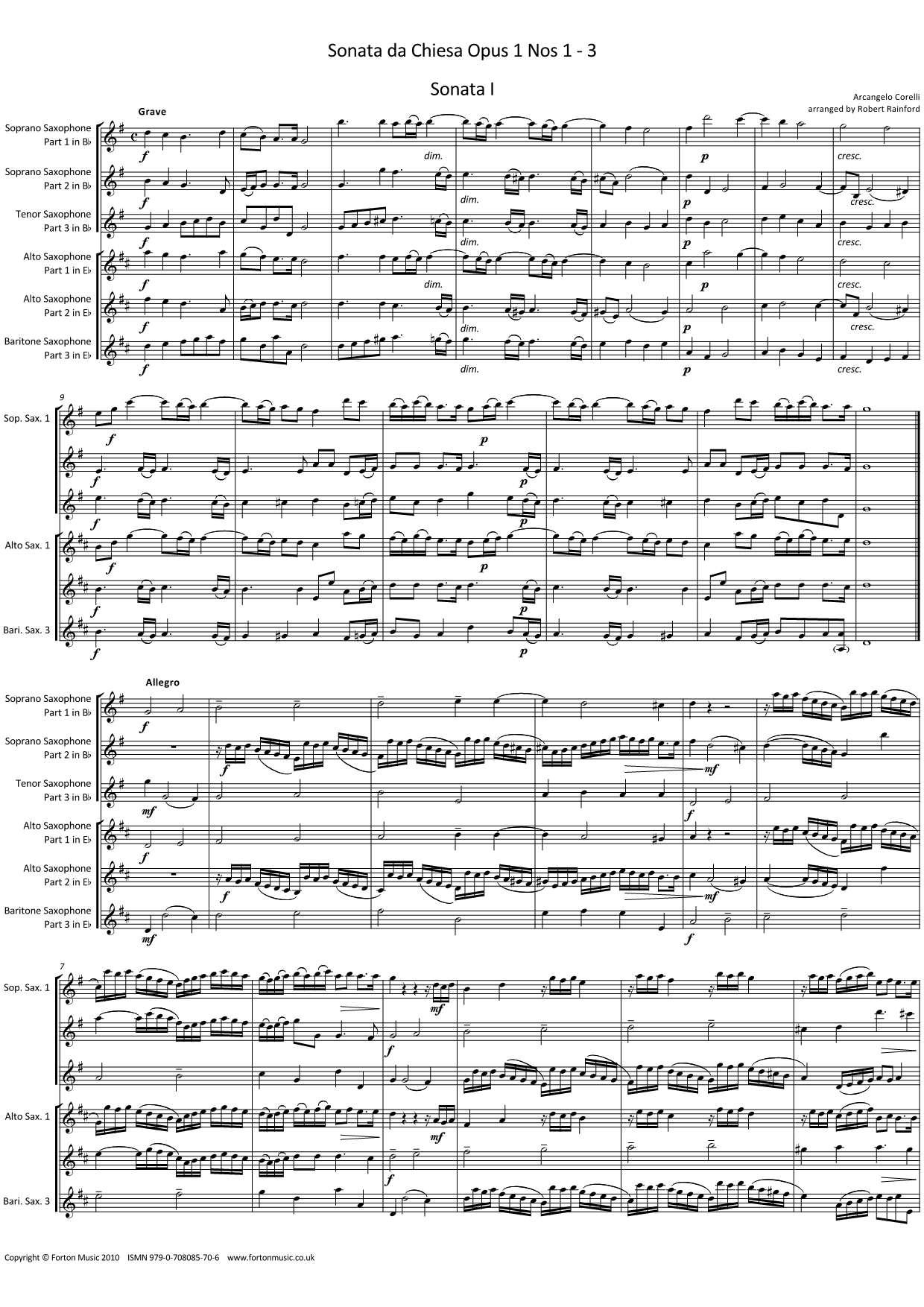 Sonata da Chiesa opus 1 nos 1-3