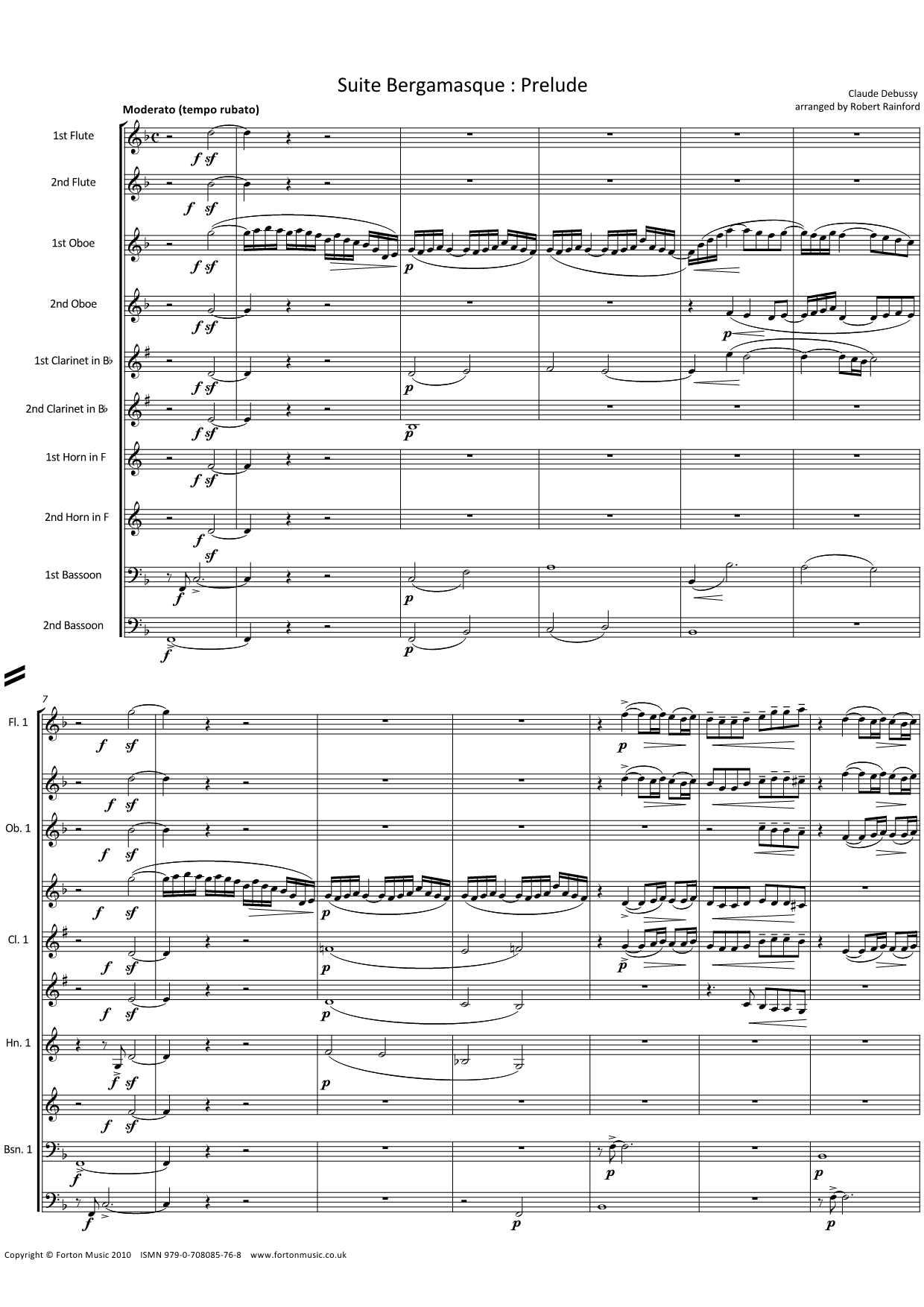 Prelude from the Suite Bergamasque
