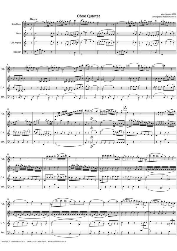 Oboe Quartet