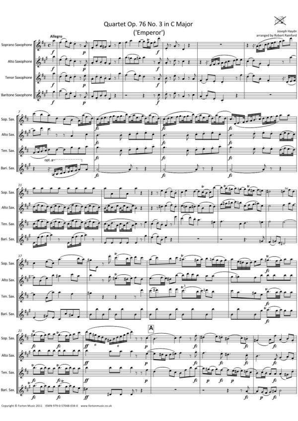 Quartet Op76 no 3 'Emperor'