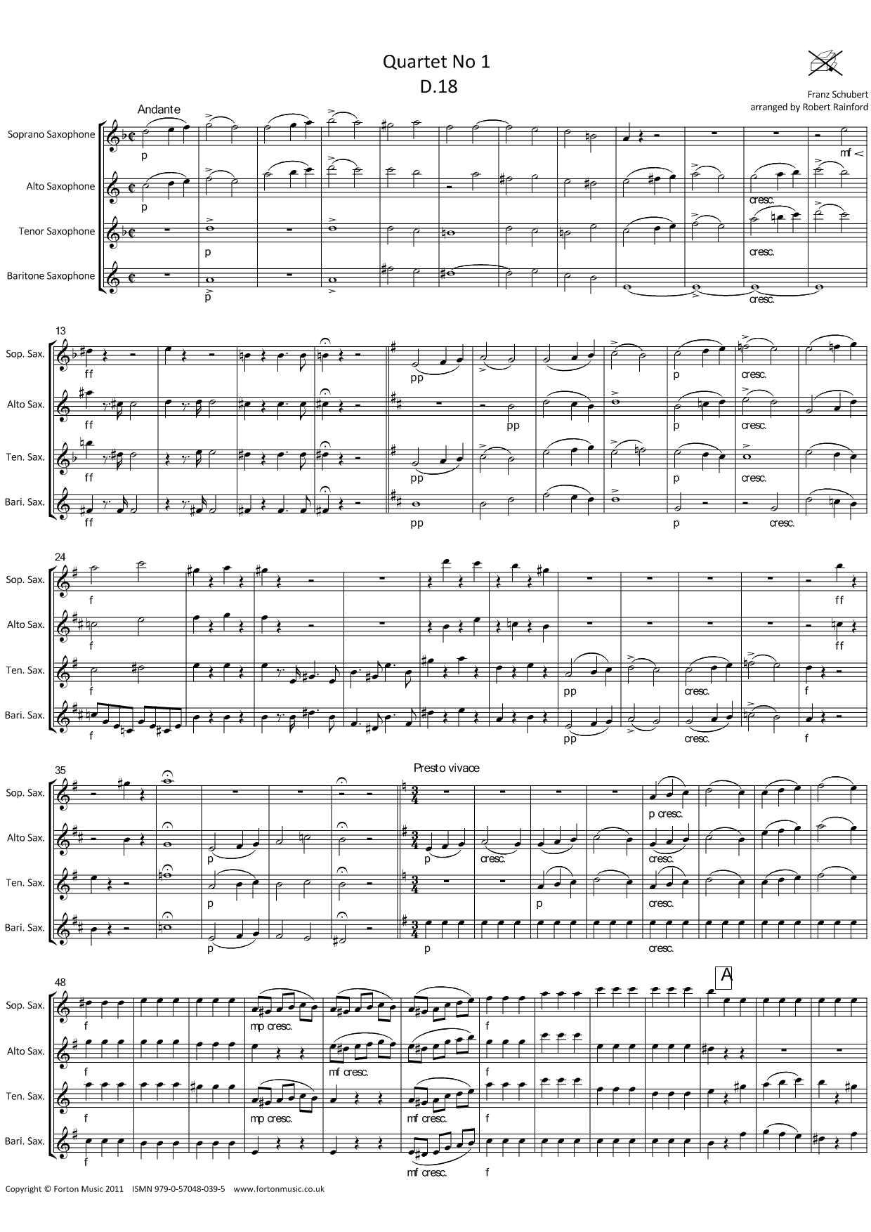 Quartet no 1
