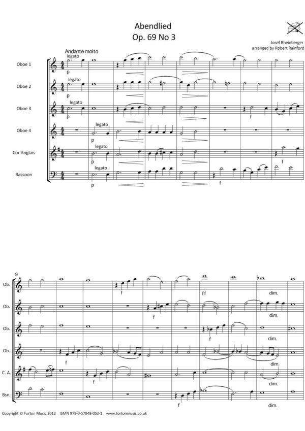 Abendlied opus 69 no 3