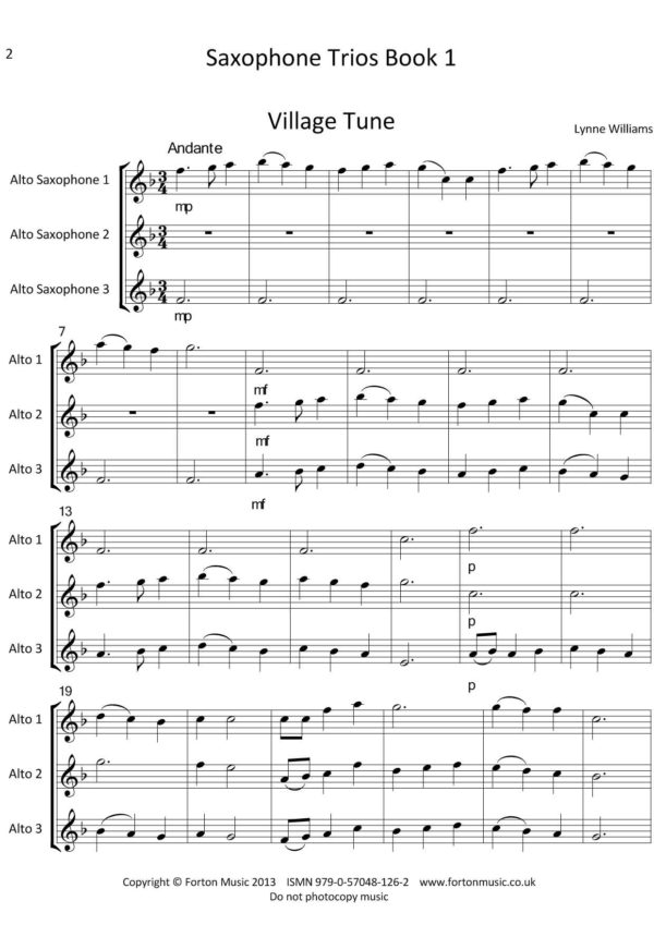 Saxophone Trios Book 1