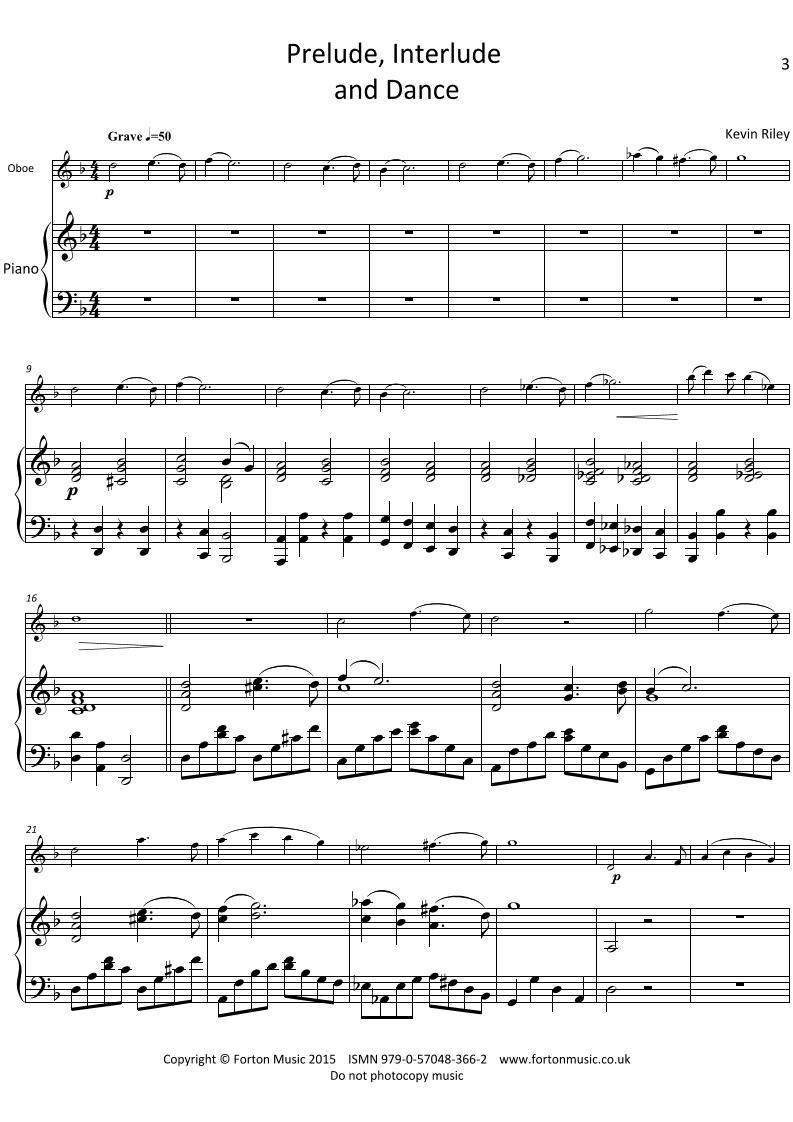 Prelude, Interlude and Dance