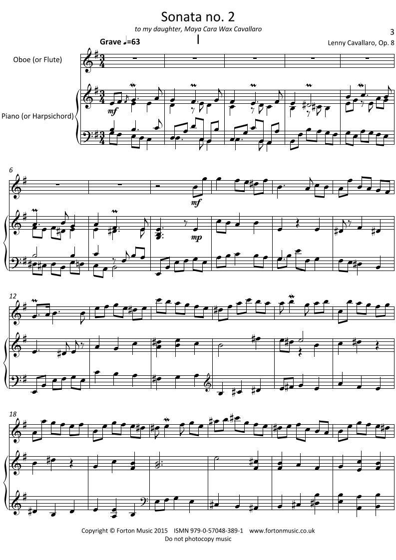 Oboe Sonata no 2