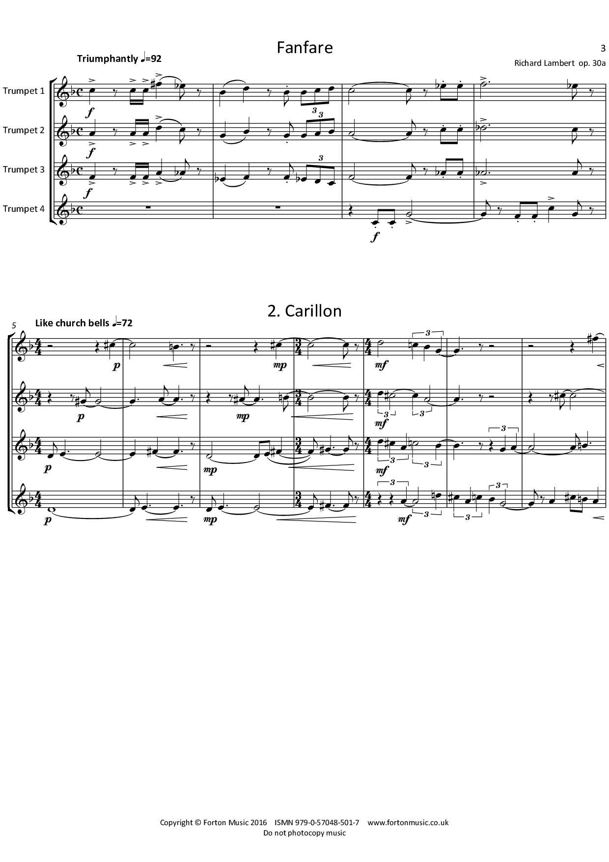 Little Suite for Four Trumpets