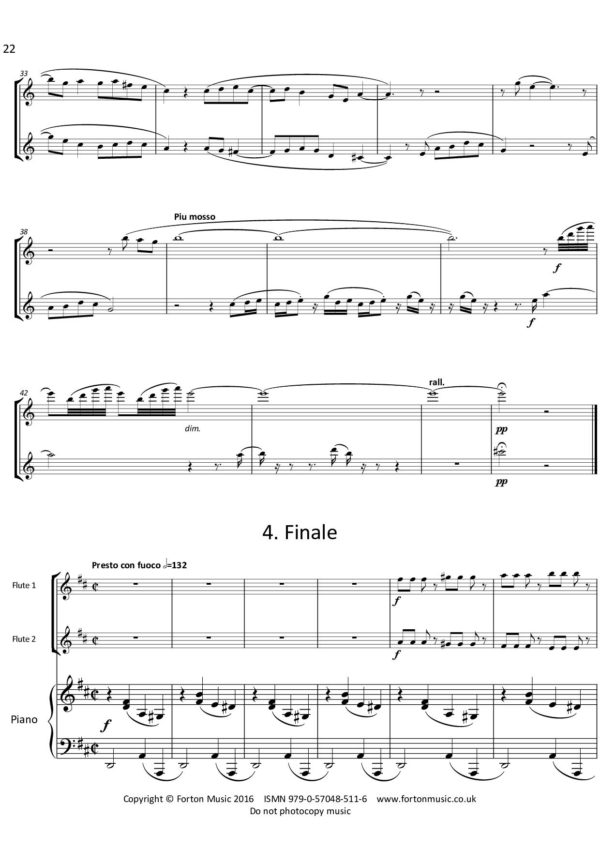 Sonata for Two Flutes and Piano