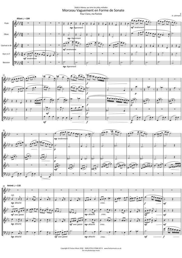 Morceau Vaguement en Forme de Sonate